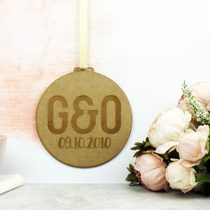 Personalised Initials Wooden Wedding Sign - room decorations