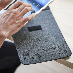 Personalised Icon Felt Tablet Sleeve For iPad