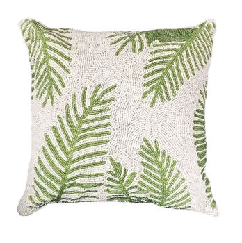 Beaded Fern Cushion
