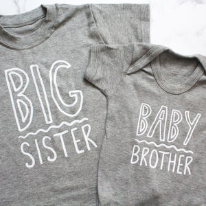 Sibling Squiggle T Shirt Set