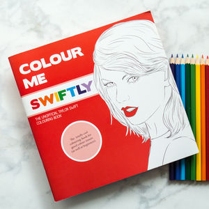 Taylor Swift Colouring Book By Colour Me Good - stocking fillers for her