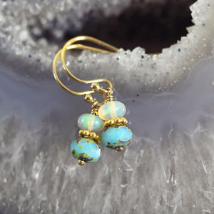 Opal Bead Earrings