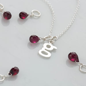 January Birthstone Garnet Teardrop Necklace - necklaces & pendants