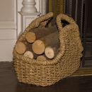 Woven Seagrass Log Basket Large Sgb1/L