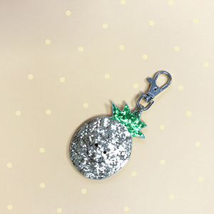 Happy Pineapple Bag Charm