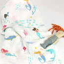 Mermaid Print Baby Muslin Cotton Bamboo Blanket