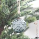 Four Pine Glass Tree Decoration Green