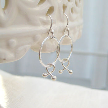 Sterling Silver Xo Hugs And Kisses Earrings