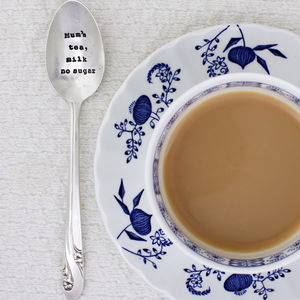 Personalised Silver Plated Vintage Tea Spoon - tableware