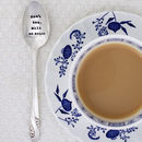 Personalised Silver Plated Vintage Tea Spoon