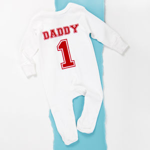 Personalised Baby Football Team Babygrow