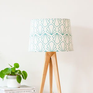 Turquoise Sunbeam Tapered Lampshade