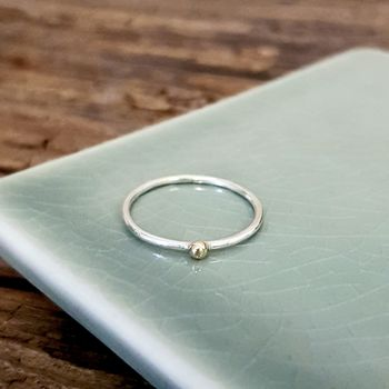 Silver And Gold Stacking Ring