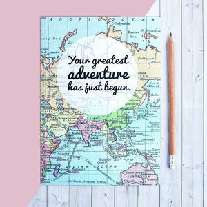 'Greatest Adventure Has Just Begun' Writing Journal