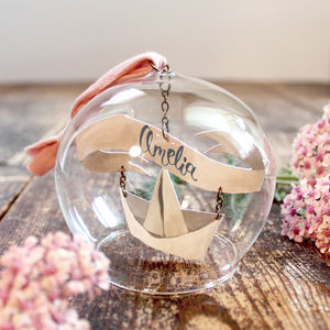 'Sail Away In A Paper Boat' Papercut Glass Dome - view all new