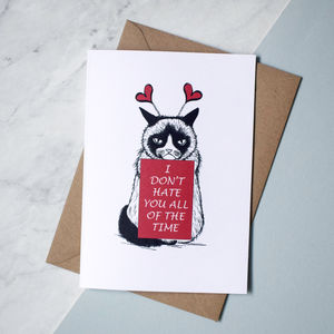 I Don't Hate You All Of The Time Grumpy Cat Card - whatsnew