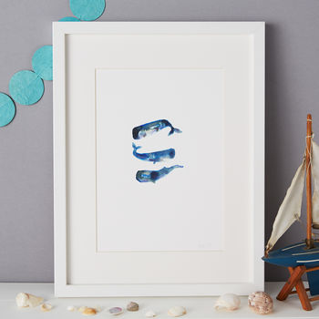 Sperm Whale Illustration Giclee Print