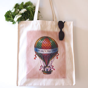 Hot Air Balloon Sky's The Limit Tote Bag