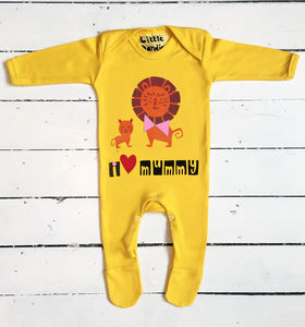 Mother's Day Handprinted Lion Babygrow