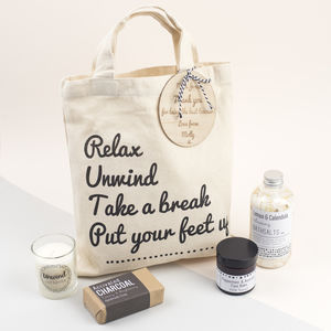 Sit Back And Relax Personalised Pamper Gift Bag - personalised