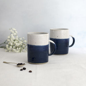 Handmade Speckled Cosy Mug Midnight Blue - gifts for her
