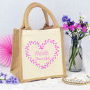 Personalised Heart 'Flower Girl' Bag