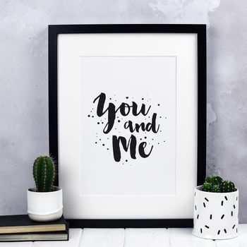 You And Me Valentine Print