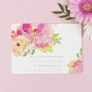 Rose Bloom Wedding Save The Date