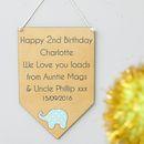 Personalised Birthday Age Flag Keepsake Card