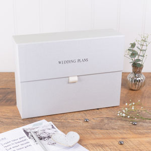 Personalised Wedding Planner Box Classic Linen