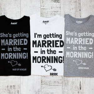 She's Getting Married Bridal Night Tee Pyjama Set - lingerie & nightwear
