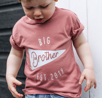 Personalised Big Brother New Baby Sibling T Shirt