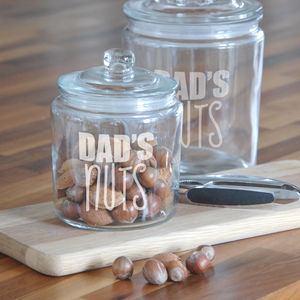 Personalised Nuts Jar - tins, jars & bottles