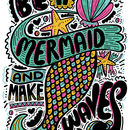 Mermaid Typographic Print