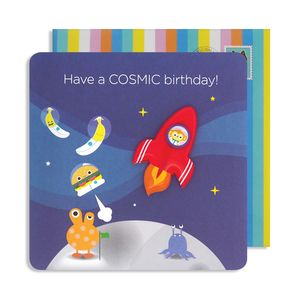 Cosmic Birthday Jelly Magnet Card