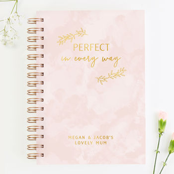 Mother's Day Personalised Pink Notebook