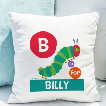 Red Dot Initial Very Hungry Caterpillar Cushion