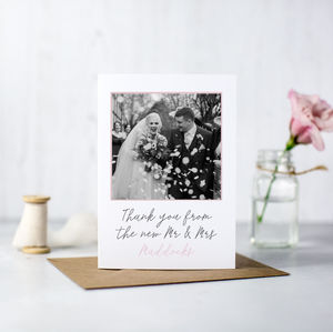 Photographic Wedding Thank You Cards - wedding cards & wrap