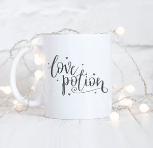 Hand Lettered 'Love Potion' Typography Mug - what's new