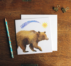 Star Bear Greetings Card