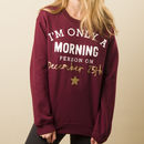 'Morning Person' Women's Christmas Jumper