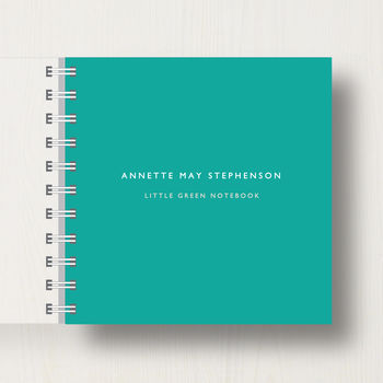 Personalised Little Green Notebook