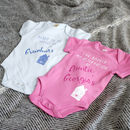 Reservation At My Aunties Personalised Babygrow