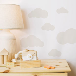 Mini Cloud Wall Sticker Set - wall stickers