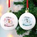 Personalised Christmas Tree Bauble's For Boys And Girls