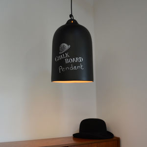 The Chalkboard Pendant Light - bedroom