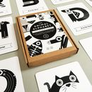 Black And White Alphabet Flash Cards