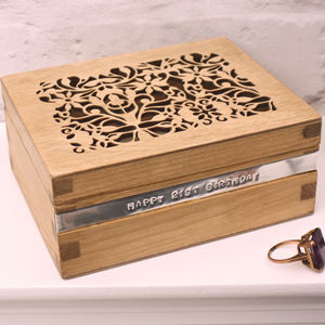Personalised Filigree Fretwork Trinket Box - new in jewellery