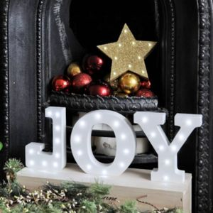 White Light Up Letters - room decorations