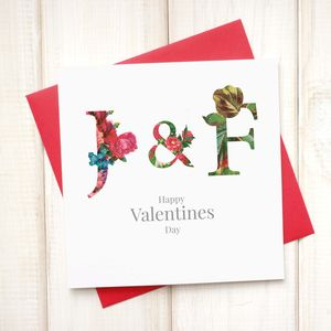 Personalised Floral Valentines Card - what's new